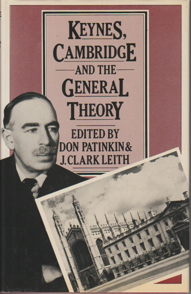 Patinkin-Keynes, Cambridge